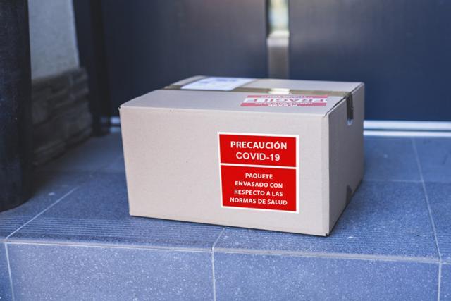 Pegatinas para paquetes Control medidas higiénicas - Covid - 19
