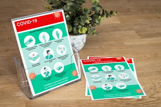 Flyer o folleto explicativo con normas para la utilización de instalaciones para entregar a l@s usuari@s.