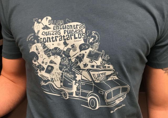 Serigrafía Textil sobre camiseta de algodón y poliéster