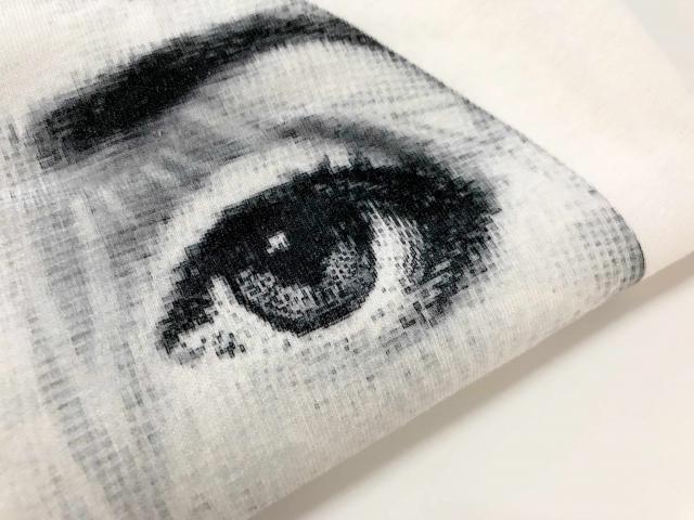 Fotografía impreso con impresión digital textil sobre algodón