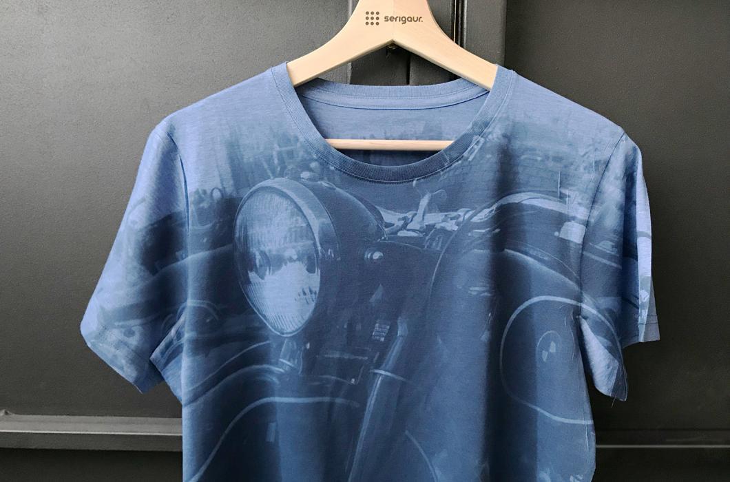 Sublimación sobre camiseta de polyéster.